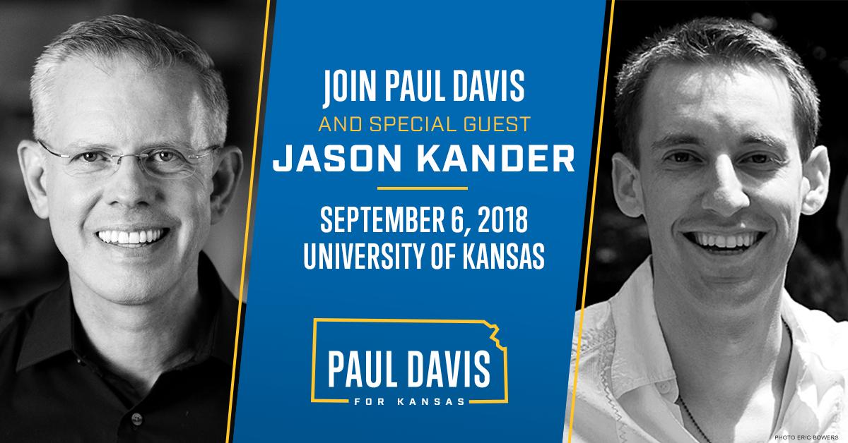 Paul Davis and Jason Kander at KU