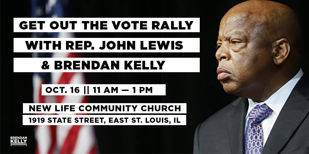 Get Out The Vote Rally With Rep. John Lewis And Brendan