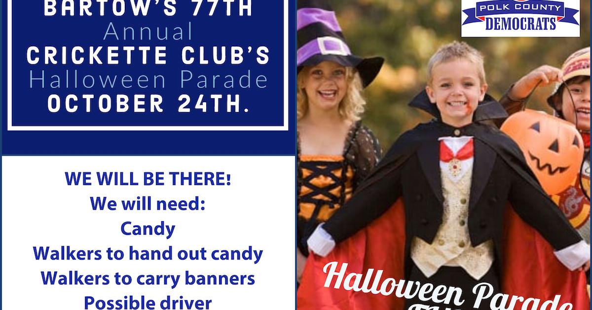 Bartow Halloween Parade 2020 BARTOW HALLOWEEN PARADE · Polk County DEC