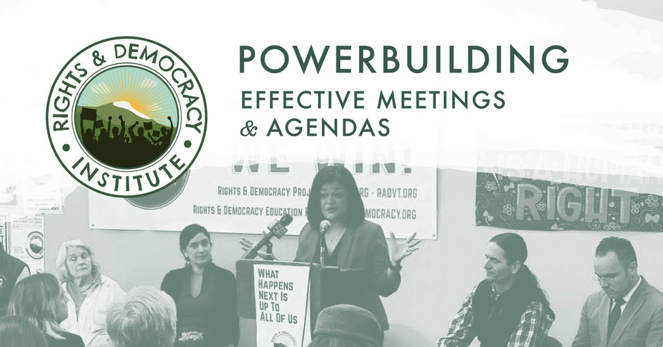 Powerbuilders Training: Effective Meetings & Agendas organized by Rights & Democracy