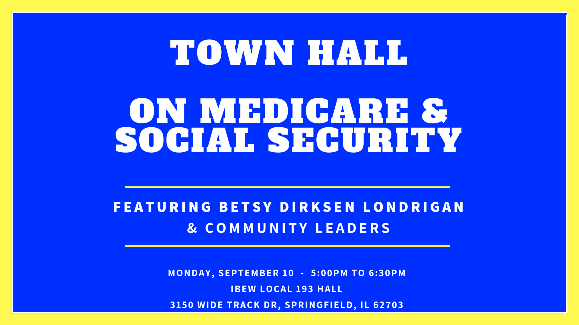 Springfield Town Hall with Betsy!