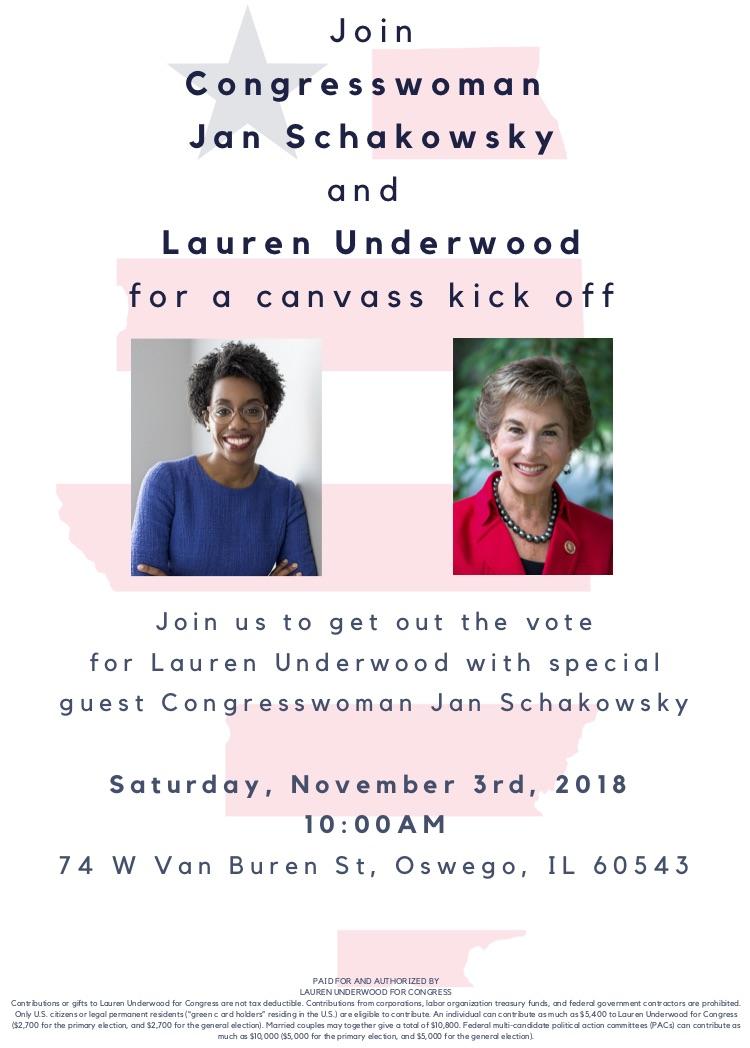 Canvass Kick-Off with Congresswoman Jan Schakowsky