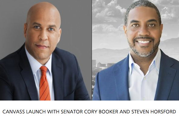 Canvass Launch with Senator Cory Booker and Steven Horsford