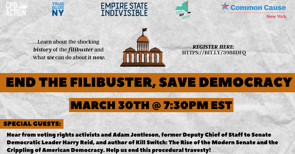 End the Filibuster, Save Democracy organized by Common Cause